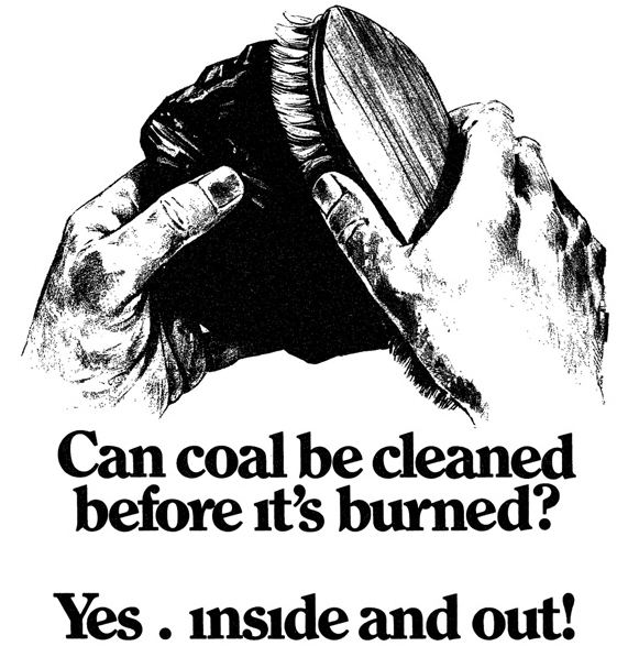 An American Electric Power ad that ran in The Wall Street Journal in 1979 downplays the environmental impacts of coal