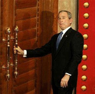 President Bush tries to open prop door