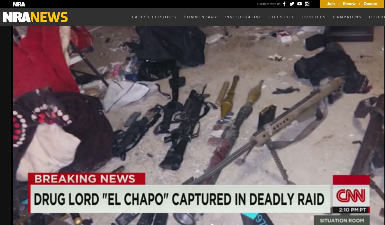 nra falsely claims that obama gave el chapo a sniper rifle